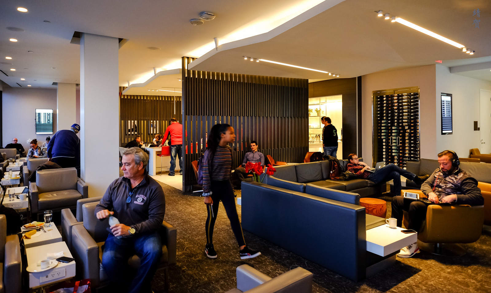 Inside the lounge
