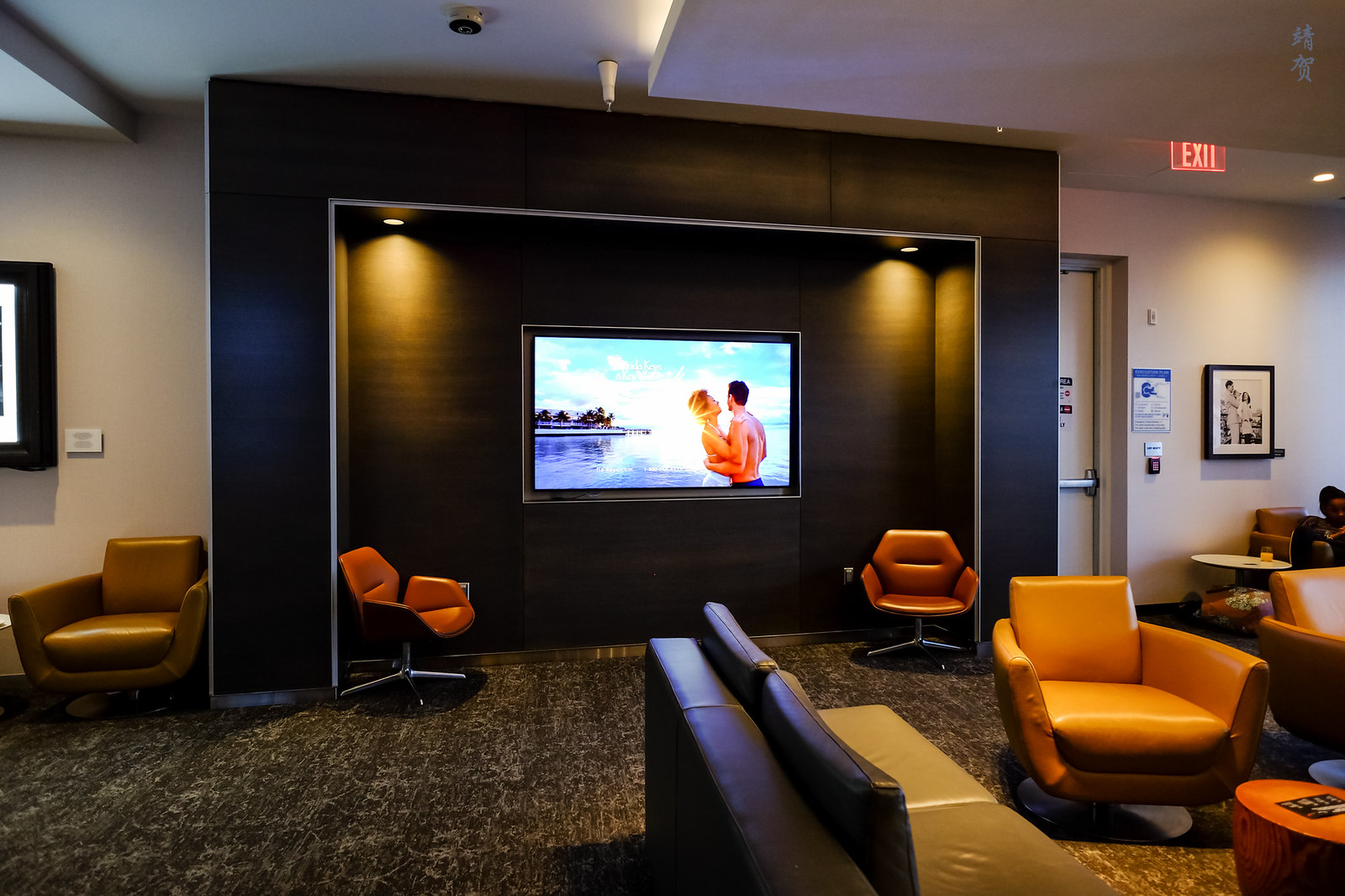 Lounge area with view of the TV