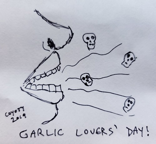 Inktober 6, 2019: Garlic Lovers' Day