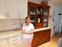 Marta en su cocina