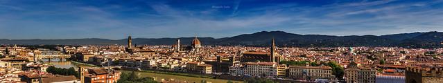 Firenze panoramica da Piazzale Michelangelo (2) / Panoramic Florence from Piazzale Michelangelo (2)