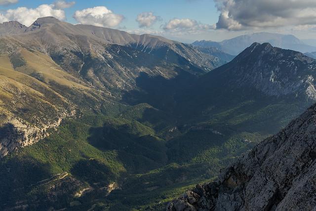 Vista al E desde Peña Montañesa