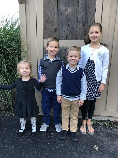 4 children smiling