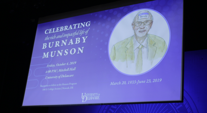 Burnaby Munson Memorialized at Mitchell Hall