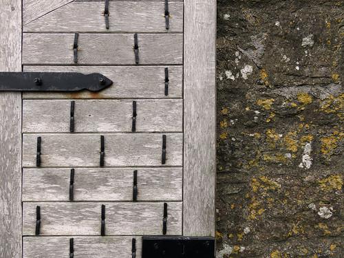 Vieille porte à Charles Fort à Kinsale, Irlande