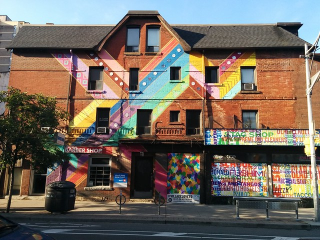South face, northwest corner of Church and Wellesley #toronto #churchandwellesley #churchstreet #wellesleystreet #mural #rainbow
