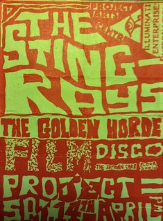 The Sting-Rays - Golden Horde - Gig Flyer - Sat 14th April 1984