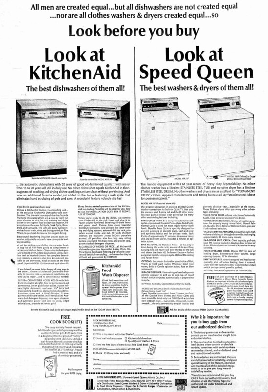 KitchenAid, Speed Queen 1969