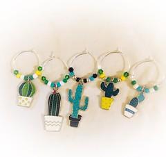 Cactus glass charms