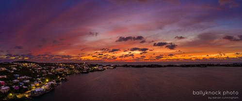 paradise harringtonsound drone nature mavicpro2 bermuda sunset