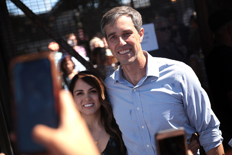 Beto O'Rourke with supporter