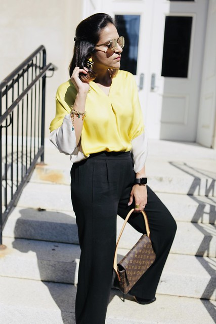 Lemon and Black Fall Look Tanvii.com
