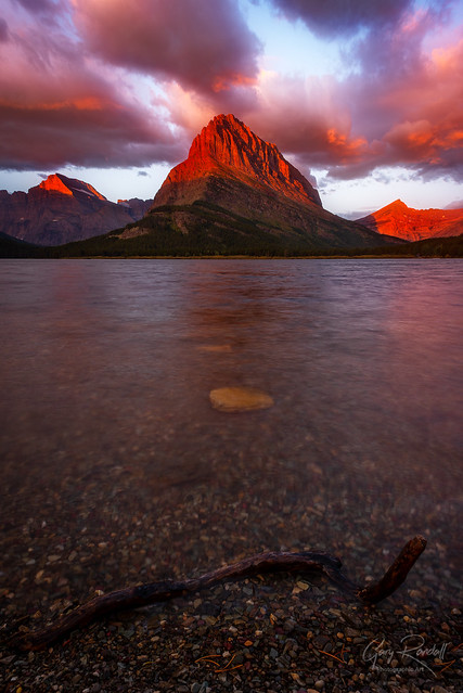 A stick at Swiftcurrent Lake
