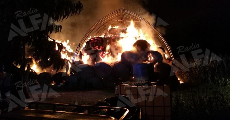 Incedio a San Pietro al Tanagro (06 ottobre 2019)