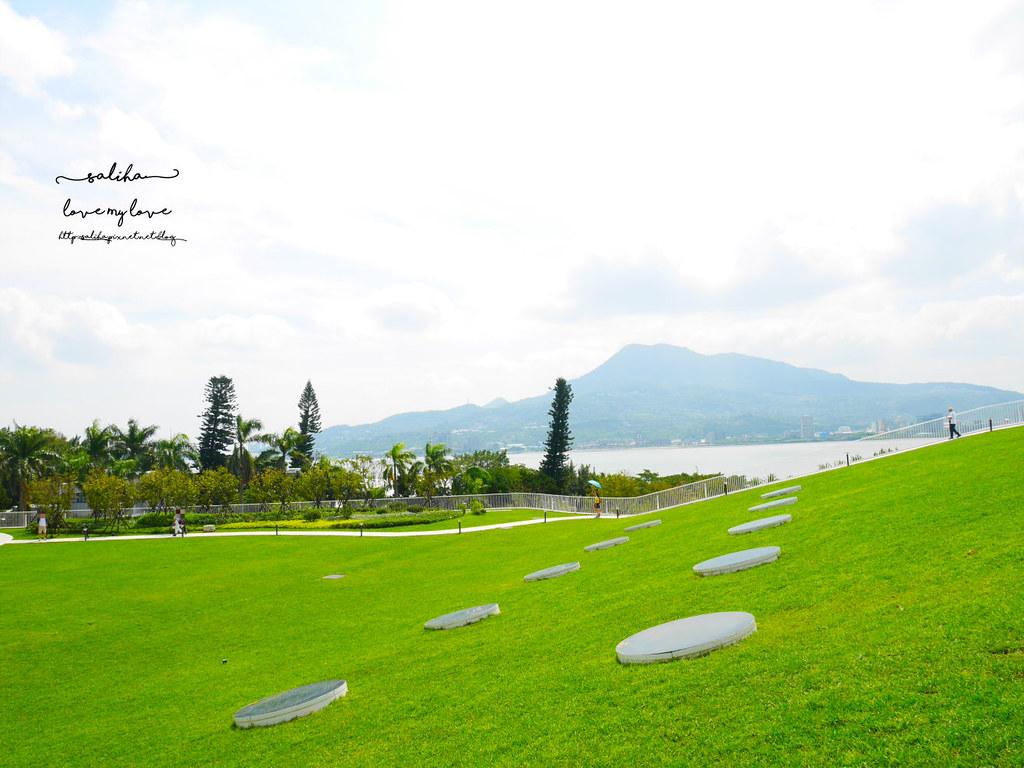 淡水一日遊親子景點滬尾藝文休閒園區戶外超大草坪葛林之森 (2)