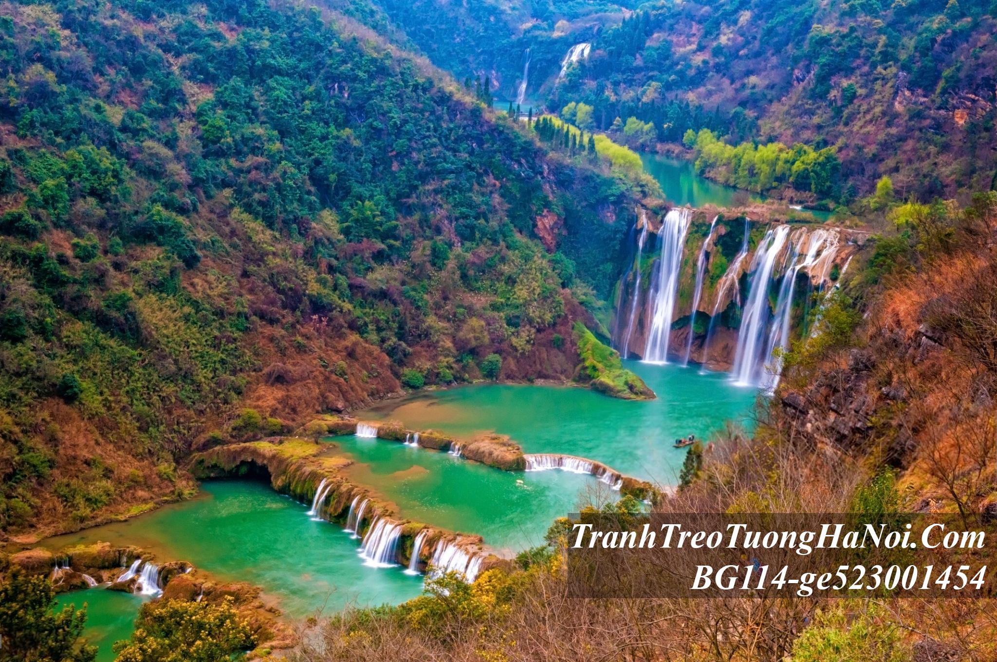 Tranh phong canh thac nuoc ban gioc BG114-ge523001454