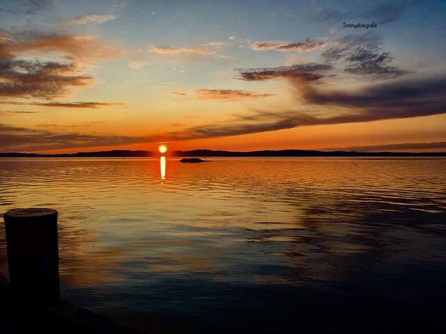Sunset over the Trondheimfjorden