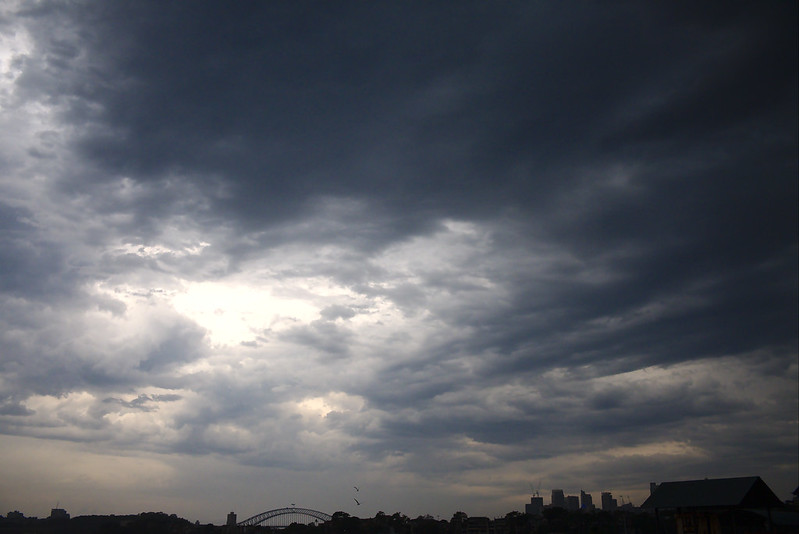 Storm building over Sydney, New Years Eve 2018