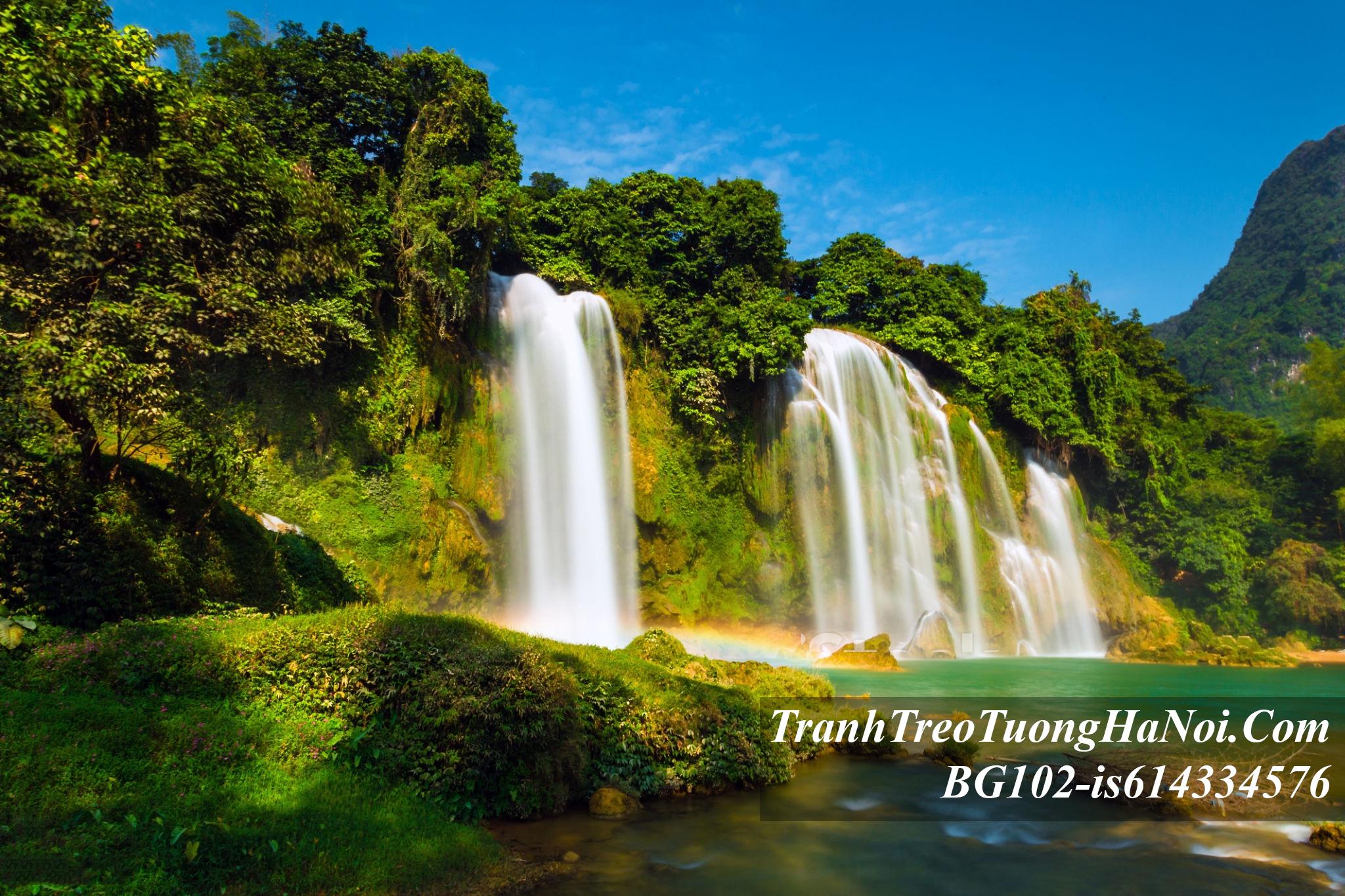 Phong canh thac nuoc ban gioc dep amia BG102-is614334576