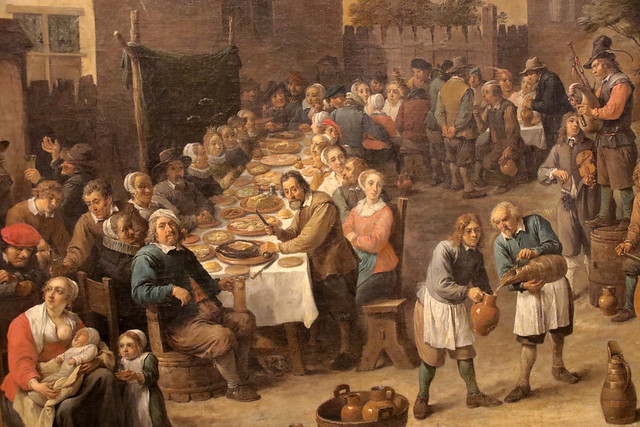 David Teniers giovane (Anversa, 15 dicembre 1610 – Bruxelles, 25 aprile 1690) -  Kermesse fiamminga - Galleria Doria Pamphilj Roma