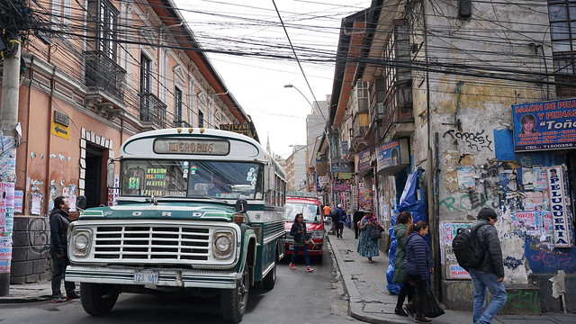 An ordinary street in La Paz