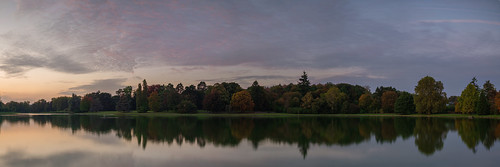 colors autumn fall lake trees tree sunset blue hour sky reflection outdoors no people scenic landscape nature panorama panoramic