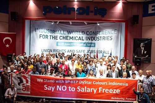 圖15.會中聲援印尼工會解凍薪資調漲活動