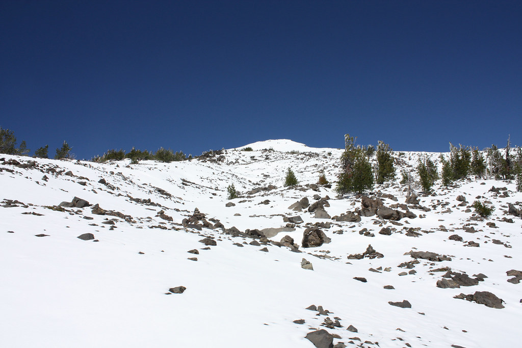 Showing the climb to the false summit