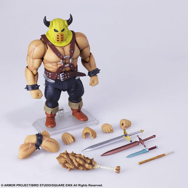 是歷戰的超健美肌肉!BRING ARTS 可動人偶《勇者鬥惡龍》肌肉男  一般版 / 武器屋Ver.(ドラゴンクエスト ブリングアーツ あらくれ)