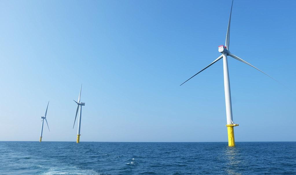 台灣第一個離岸風場海洋風場(Formosa 1)預計10月完工。攝影:陳文姿