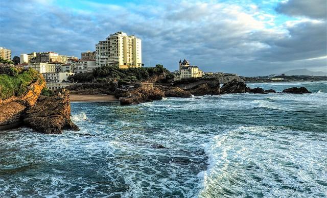 Biarritz. Fuerte oleaje.