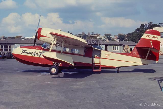 1965 Widgeon ZK-AVM at Mechanics Bay, 18 Apr 1965