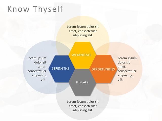 Hexagon SWOT Analysis Template