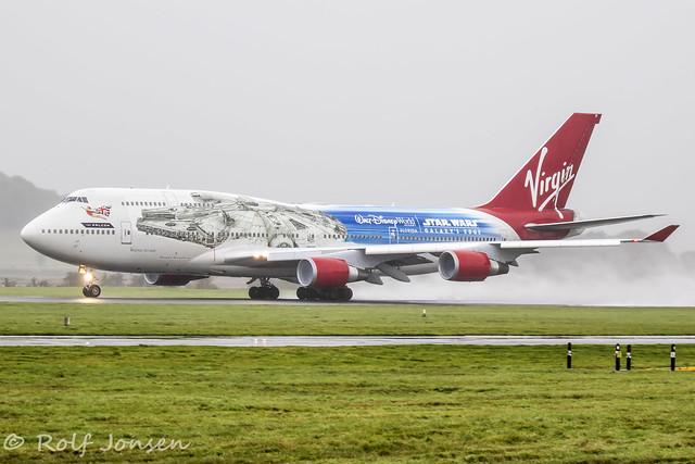 G-VLIP Boeing 747-400 Virgin Atlantic Glasgow airport EGPF 07.10-19