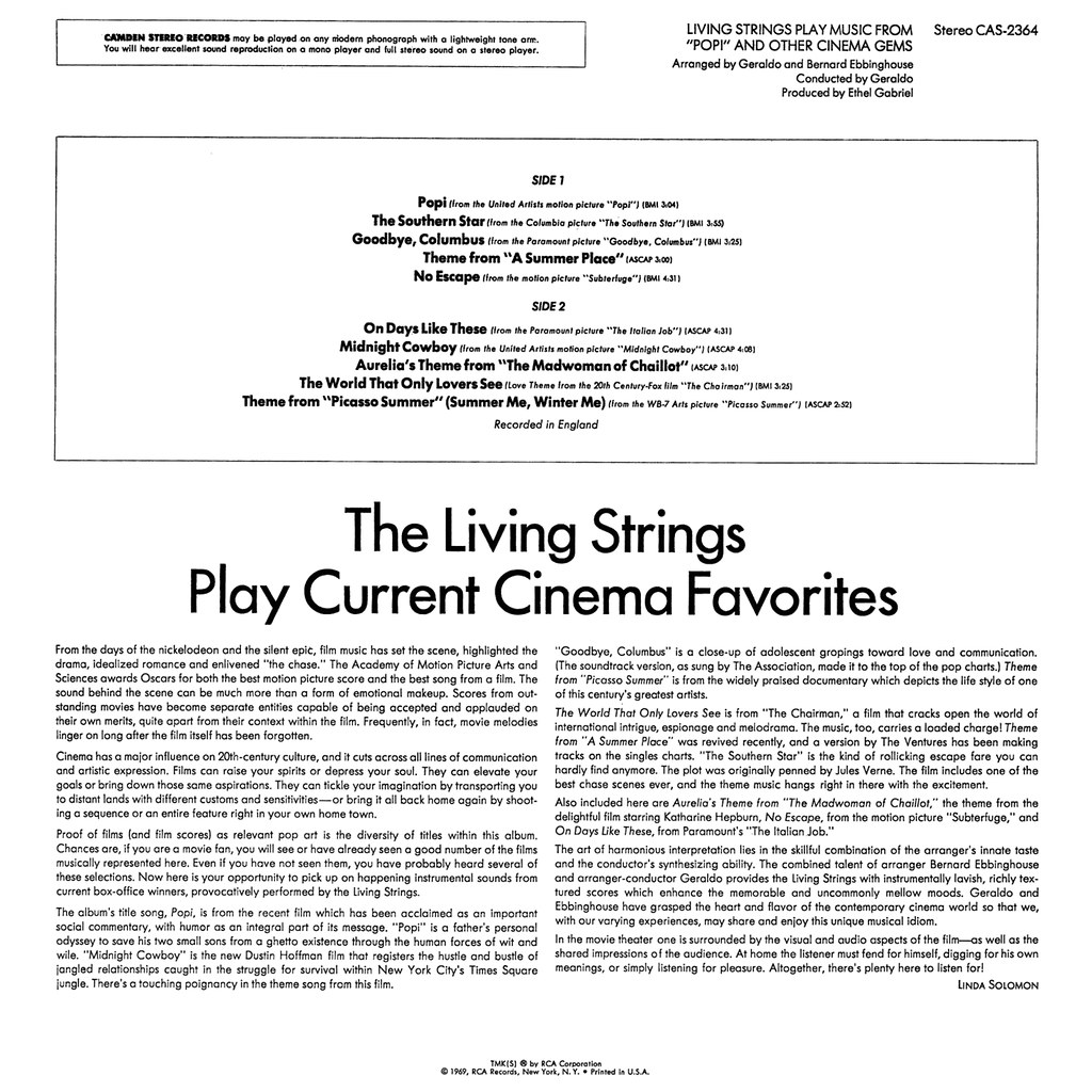Living Strings - Music from Popi and Other Cinema Gems