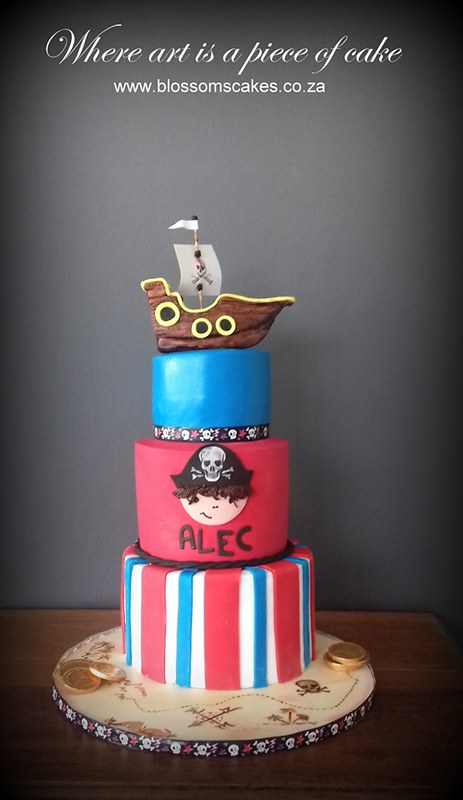 Pirate Cake by Blossoms Cakes