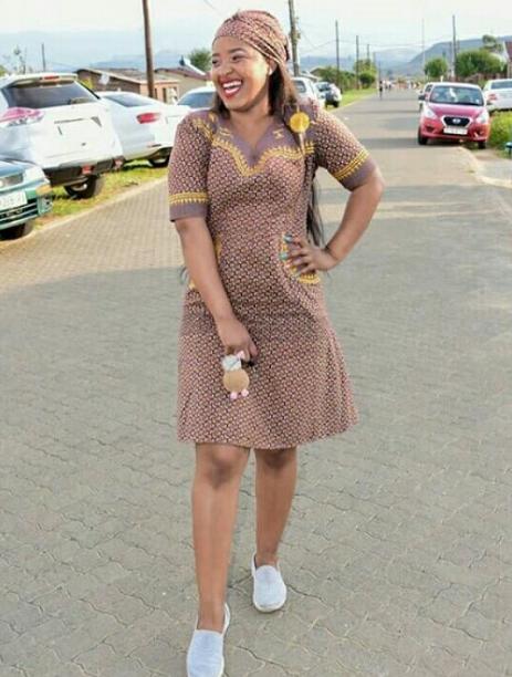 short shweshwe dress