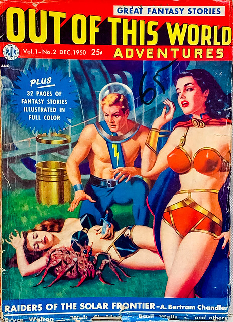 Out of this World Adventures, Vol. 1, No. 2 (Dec. 1950).  Cover by James Bama