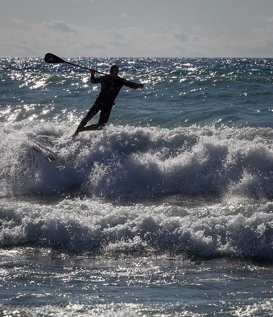 The Paddleboader vs The Wave