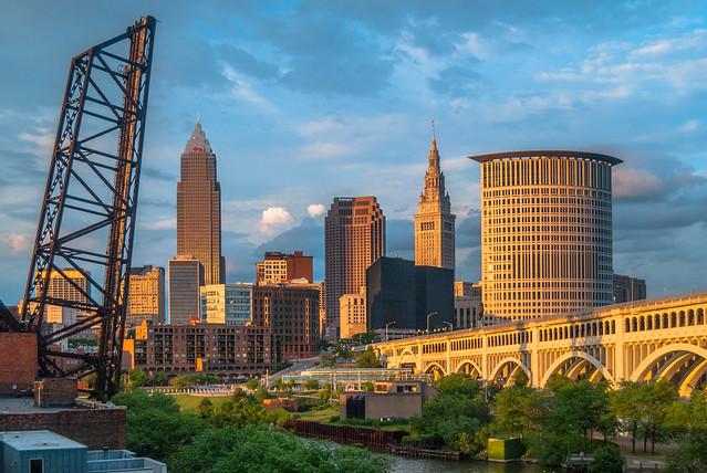 Cleveland Skyline at Sunset