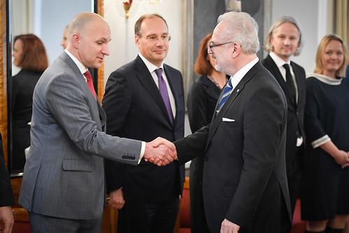 Valsts prezidents Egils Levits tiekas ar Finanšu nozares asociācijas pārstāvjiem