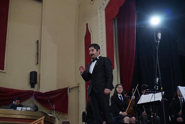 Orquesta del colegio Josefina Aguirre de Coyhaique
