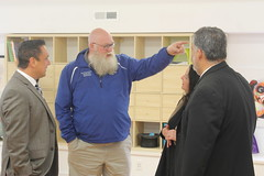 Rep. Buckbee tours Education without Walls facility.