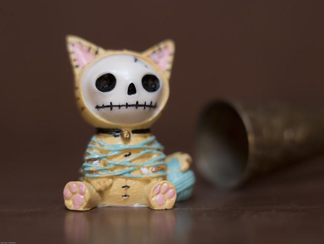 Furry Bones cat figurine