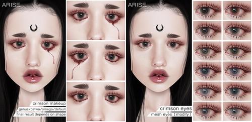 .ARISE. Crimson Makeup & Crimson Eyes