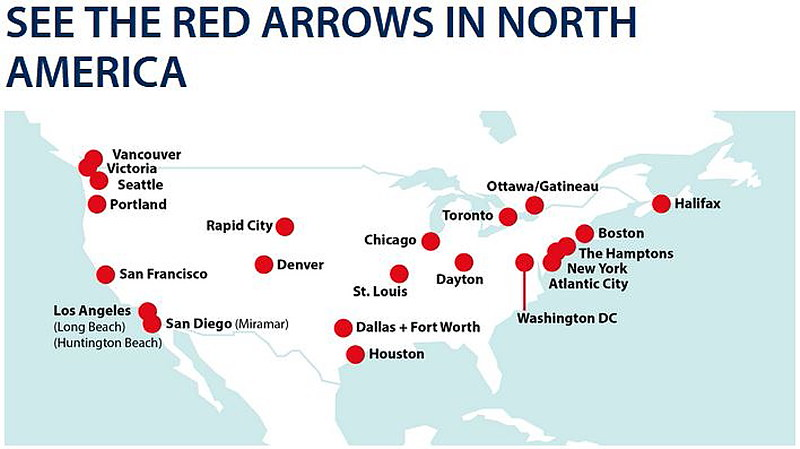 Red Arrows North America Tour 2019