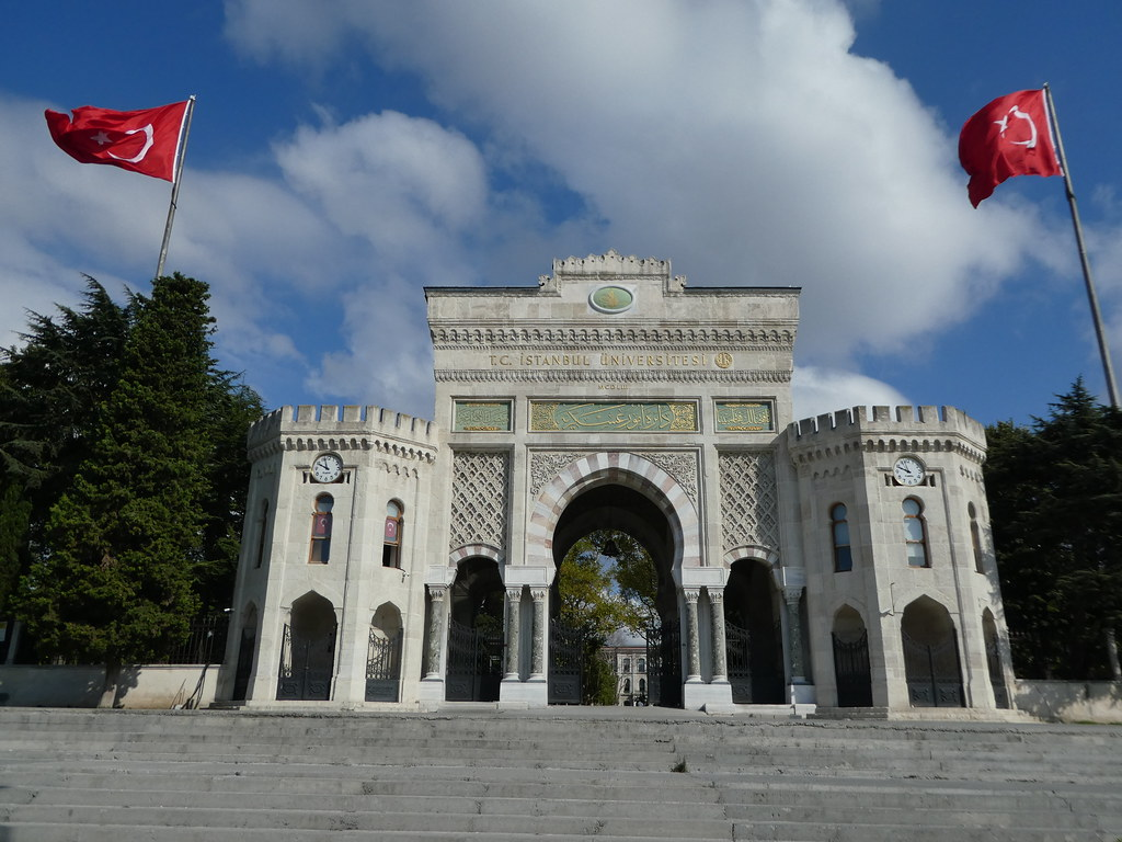 The entrance arch to the University of Istanbul