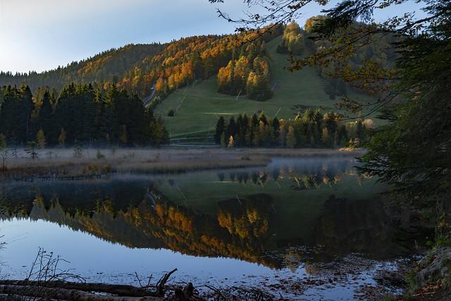 Un matin d'automne au bord d'un lac vosgien
