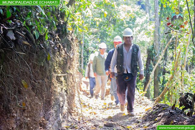 Inspección del sistema de riego Pangoa – Zonacshiato en zonal Ivochote