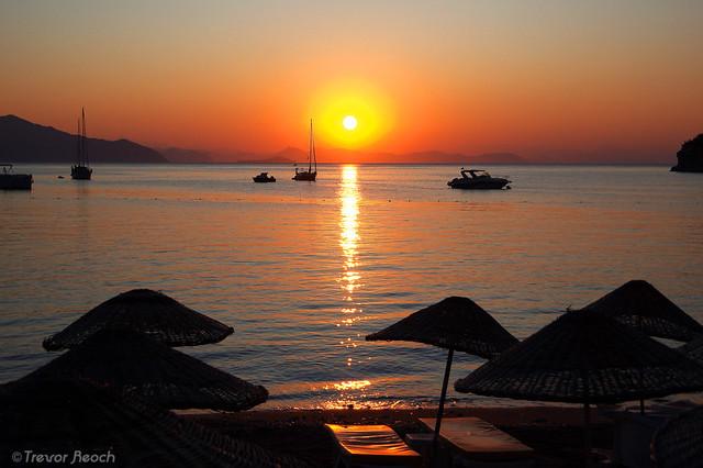 Sunrise in Turunc, Turkey